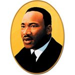 Martin Luther King Jr cardboard cutout