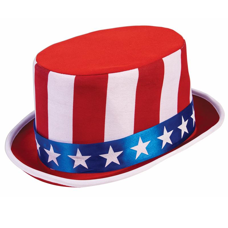 Fabric Patriotic Top Hat