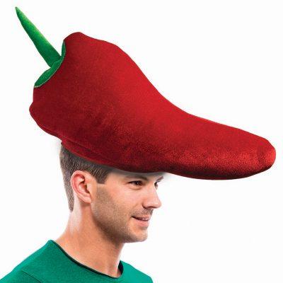 Velvet Fabric Chili Pepper Hat