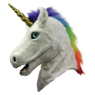Unicorn Mask with Movable Mouth