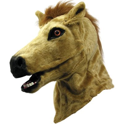 Horse Head Mask w Moving Mouth