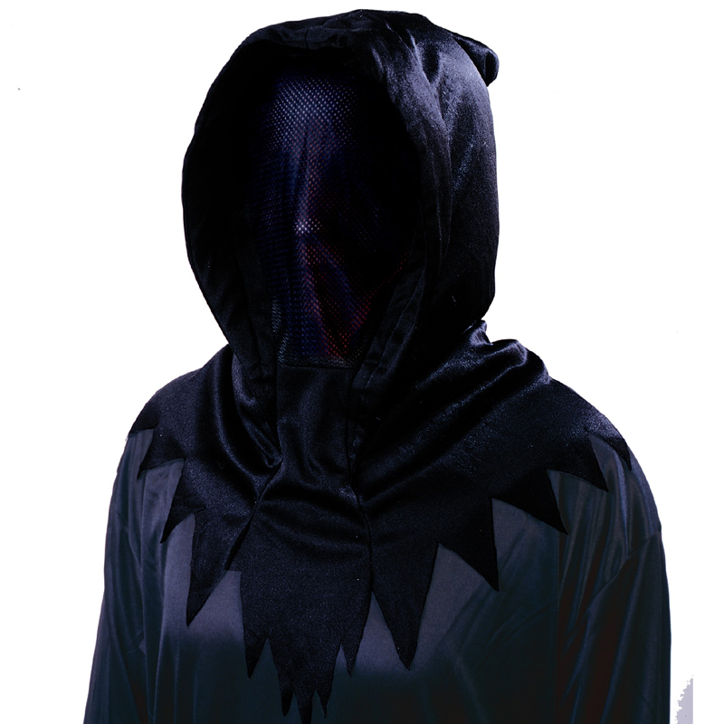 Black Fabric Invisible Hooded Mask