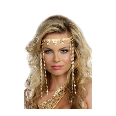 Costume Glittered Beaded Rhinestone Headpiece