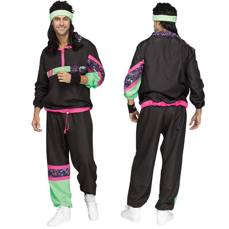 80s Rockin Track Suit Adult Male  sc 1 st  Cappelu0027s & Buy 80u0027s Rockinu0027 Track Suit Adult Male Halloween Costume - Cappelu0027s