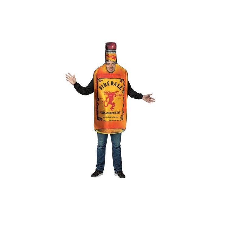 Fireball Whiskey Bottle Halloween Costume  sc 1 st  Cappelu0027s & Buy Fireball Wiskey Bottle Adult Costume - Cappelu0027s