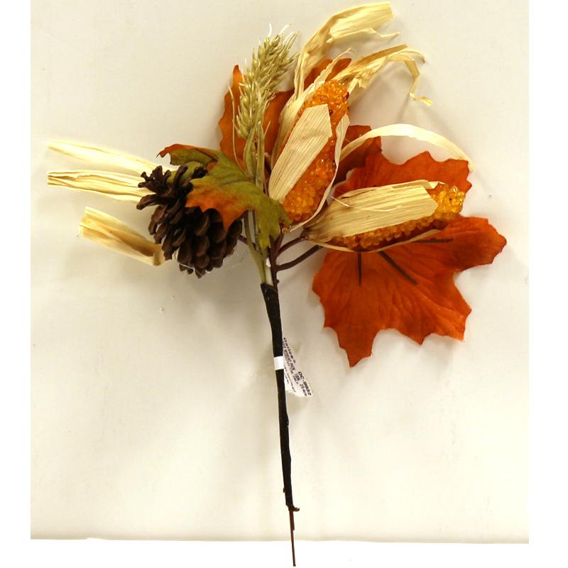 Fall Foliage Corn Cone Pick