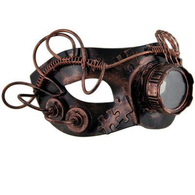 Costume Steampunk Round Eye Half Mask