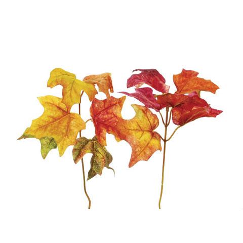 Fall Silk Maple Leaf Foliage Pick