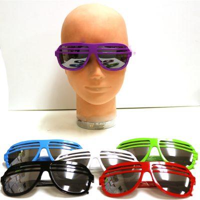 80s Mirror Lens Horizontal Bar Sunglasses