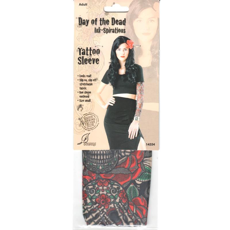 Costume Ladies Printed Tattoo Sleeves