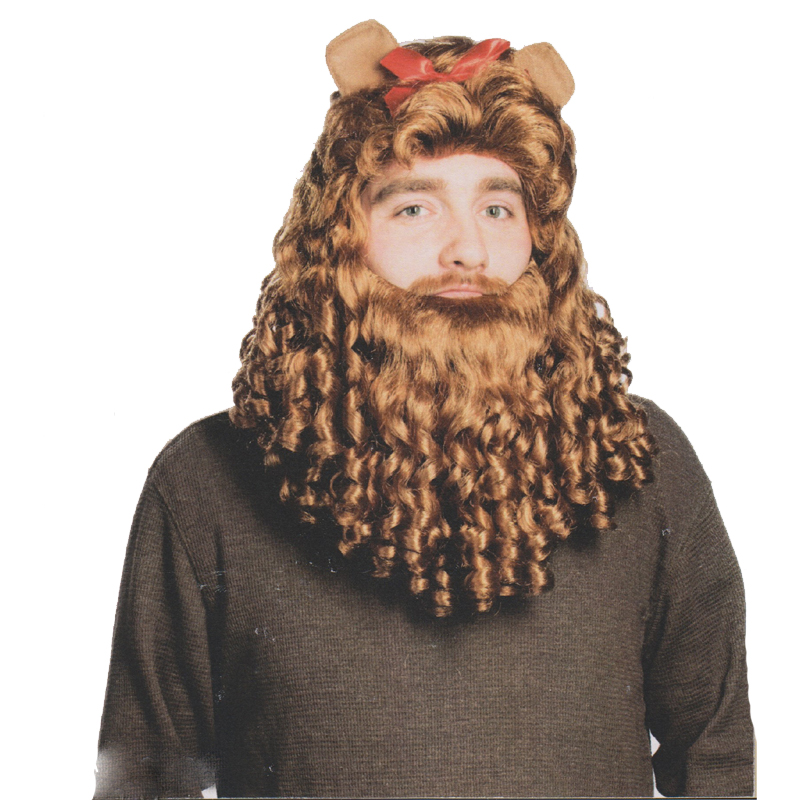 Cowardly Lion Wig and Beard