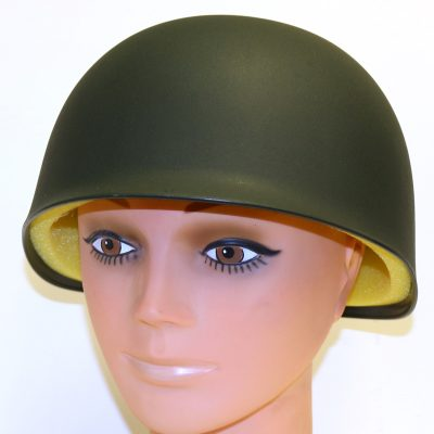 Deluxe Green Plastic Army Hat