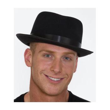 7fd54c7a221 ... Black Felt Razor Fedora Hat