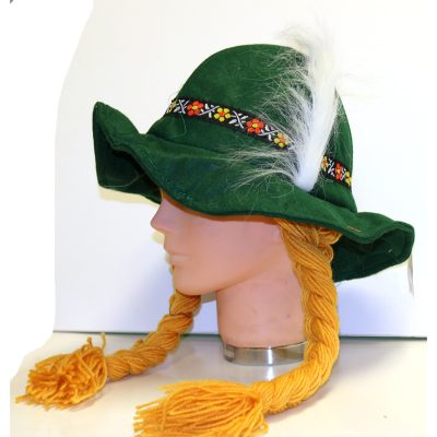 Green Soft Felt Alpine Hat Braids