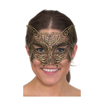 Costume Woven Lace Cat Half Mask