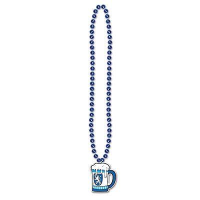 Oktoberfest Beads with Beer Stein Medallion