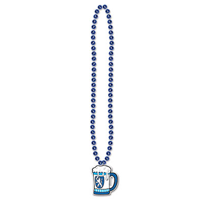 Oktoberfest Beads with Beer Stein Medallion