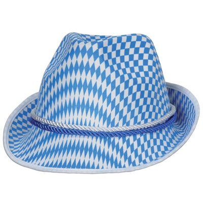 Oktoberfest Alpine Hat Blue Diamond Fedora