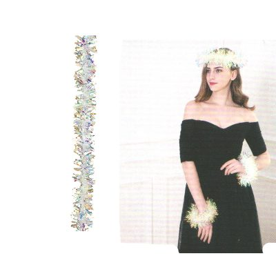 Sparkle Garland/Boa or Headband and Wristlets set