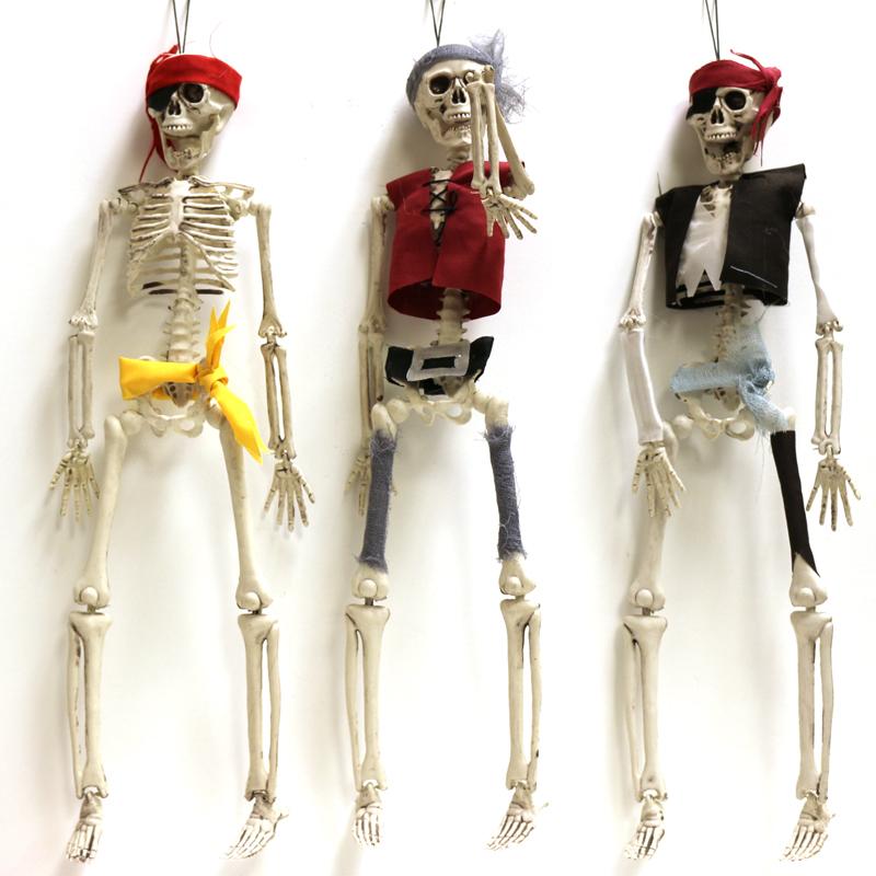16 Inch Plastic Hanging Pirate Skeleton