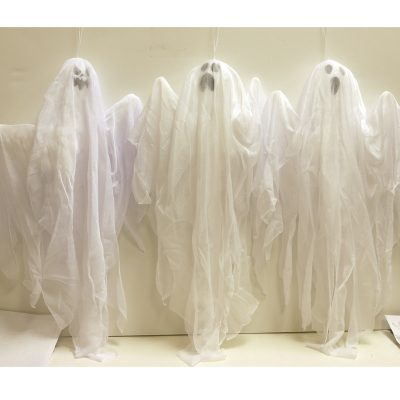 White Fabric Hanging Ghosts