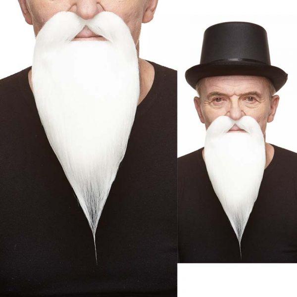 Costume Philosopher White Mustache & Beard