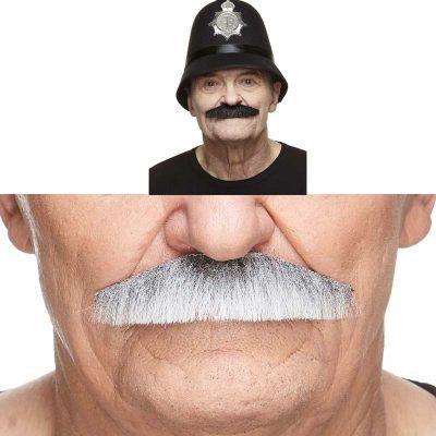 Policeman Mustache Gray or Black