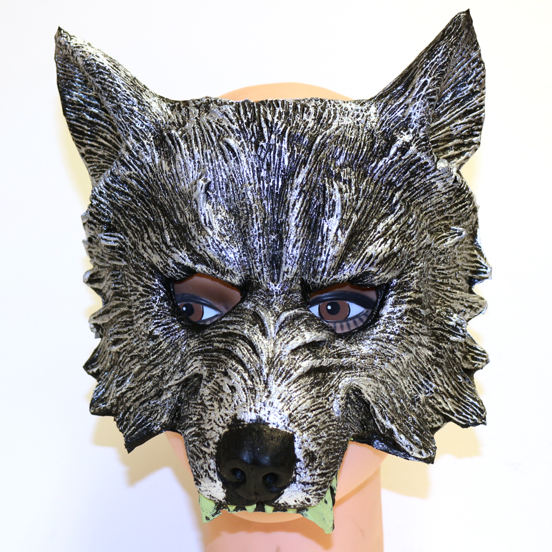 Costume Foam Wolf Face Mask with Teeth