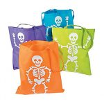 Fabric Neon Skeleton Tote Bag