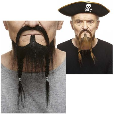 Pirate or Viking Mustache & Braided Beard