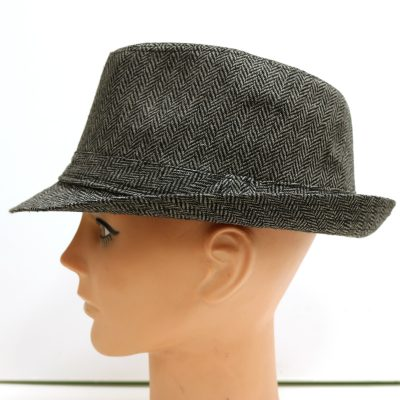 Mini Striped Fabric Fedora Hat