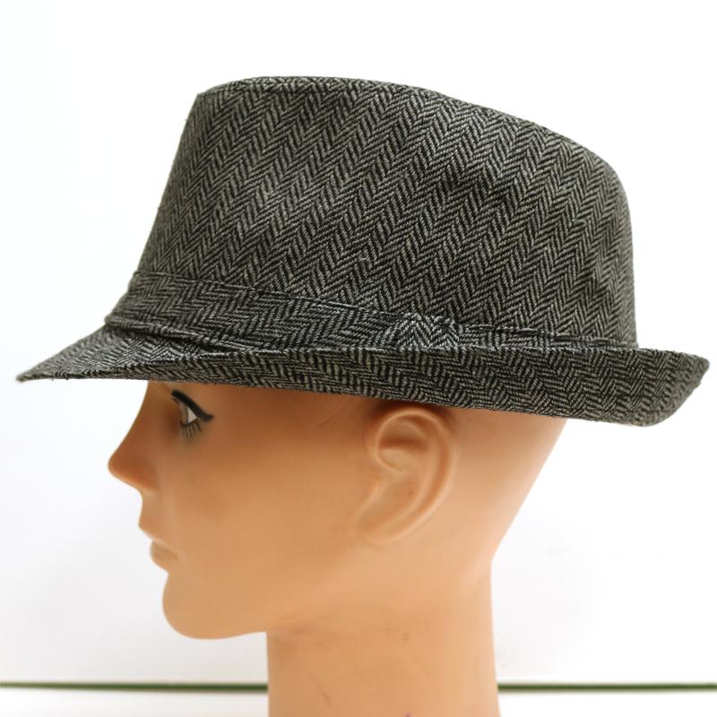 3175ab899b5 ... Mini Striped Fabric Fedora Hat