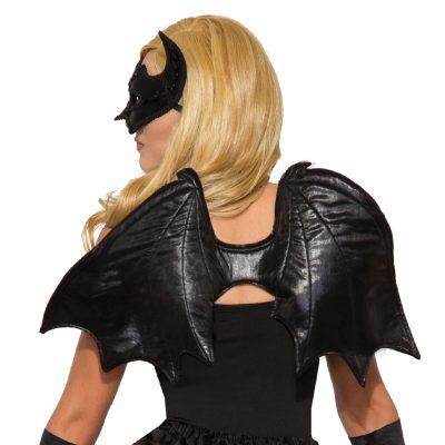 Fabric Black Flying Bat Wings