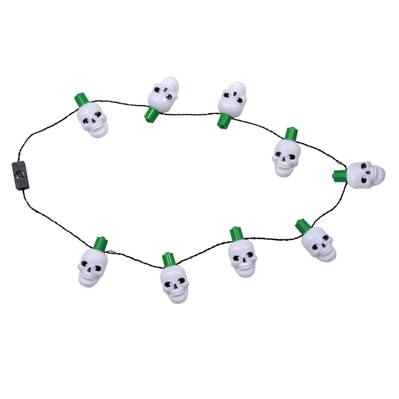 Costume Plastic Light Up Skull Necklace