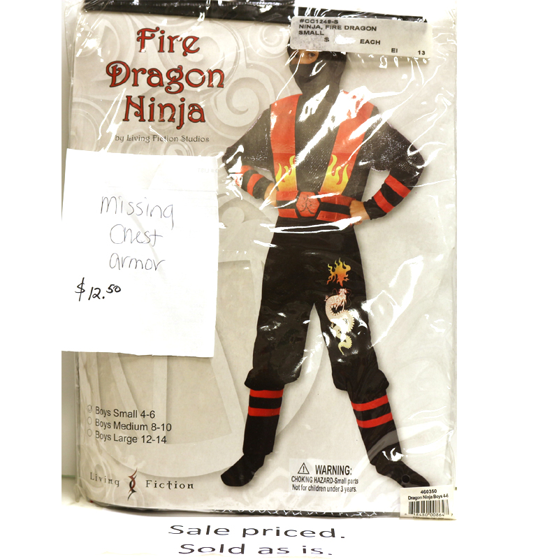 Child's Clearance Ninja Halloween Costume