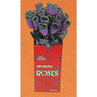 Silk Long-stem Glittered Gothic Rose Bud