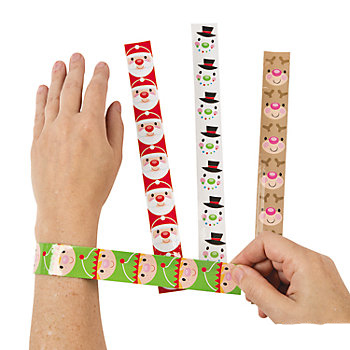 Christmas Design Slap Bracelets