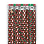 Enjoy the season of giving, offering anArgyle Pattern Pencil to every child in a classroom or at a Christmas party. Two patterns, 24 pencils per package.