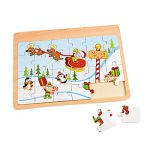 Wooden North Pole Jigsaw Puzzle SALE PRICED
