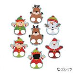 Assorted Cardboard Christmas Finger Puppets