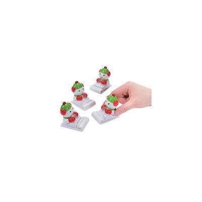 2 Inch Plastic Pull-Back Snowman Racer