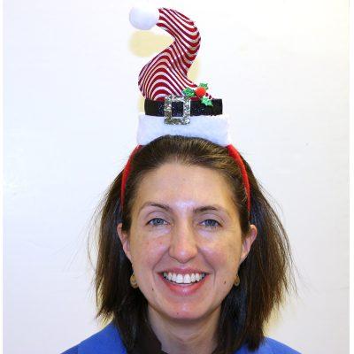 Christmas Swirl Fabric Santa Hat Headband