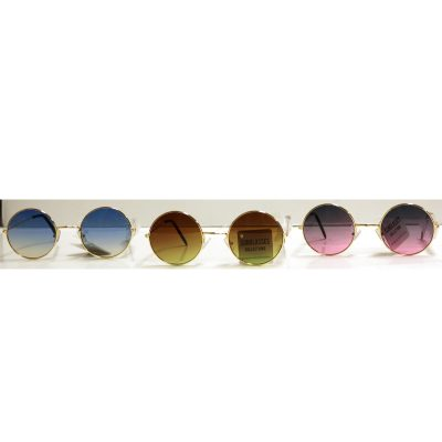 Round Shaded Ocean Lens Sunglasses