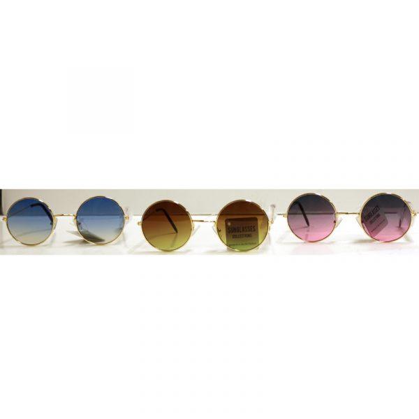 Round Shaded Ocean Lens Sunglasses