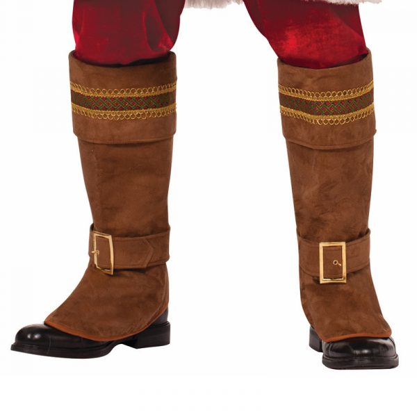 Deluxe Trimmed Brown Santa Boot Tops