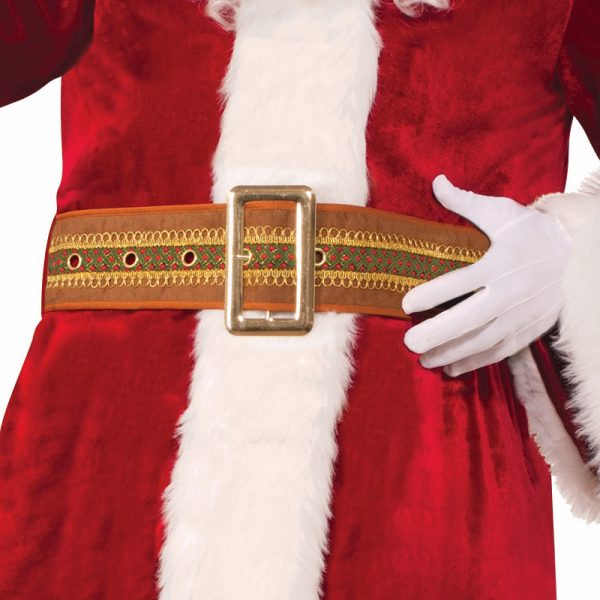 Deluxe Trimmed Brown Santa Belt