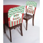 Happy Holidays Christmas Chair Cover