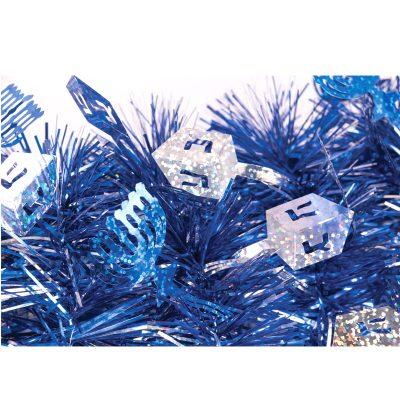 9 Feet Holographic Vinyl Hanukkah Tinsel Garland