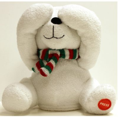 6 Inch Peek-A-Boo Plush Moving Laughing Bear