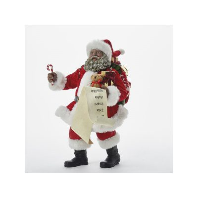 """10"""" Fabriche Classic Black Santa Claus"""